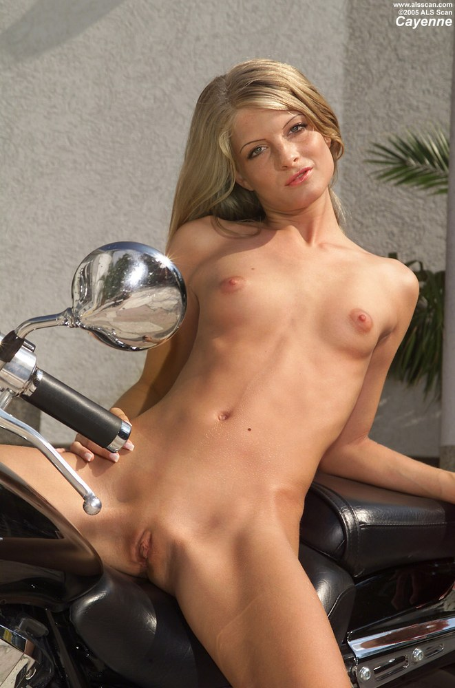 Topic Absolutely Nude girl posing on motorcycle