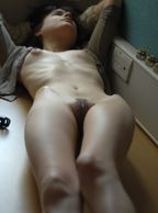 Laying Down A Skinny Girl Showing Hip Bones - naked skinny girl