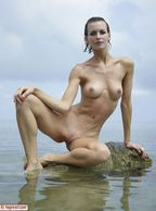 Beautiful Slim Hottie Enjoying The Lake - bald muffin slim girl
